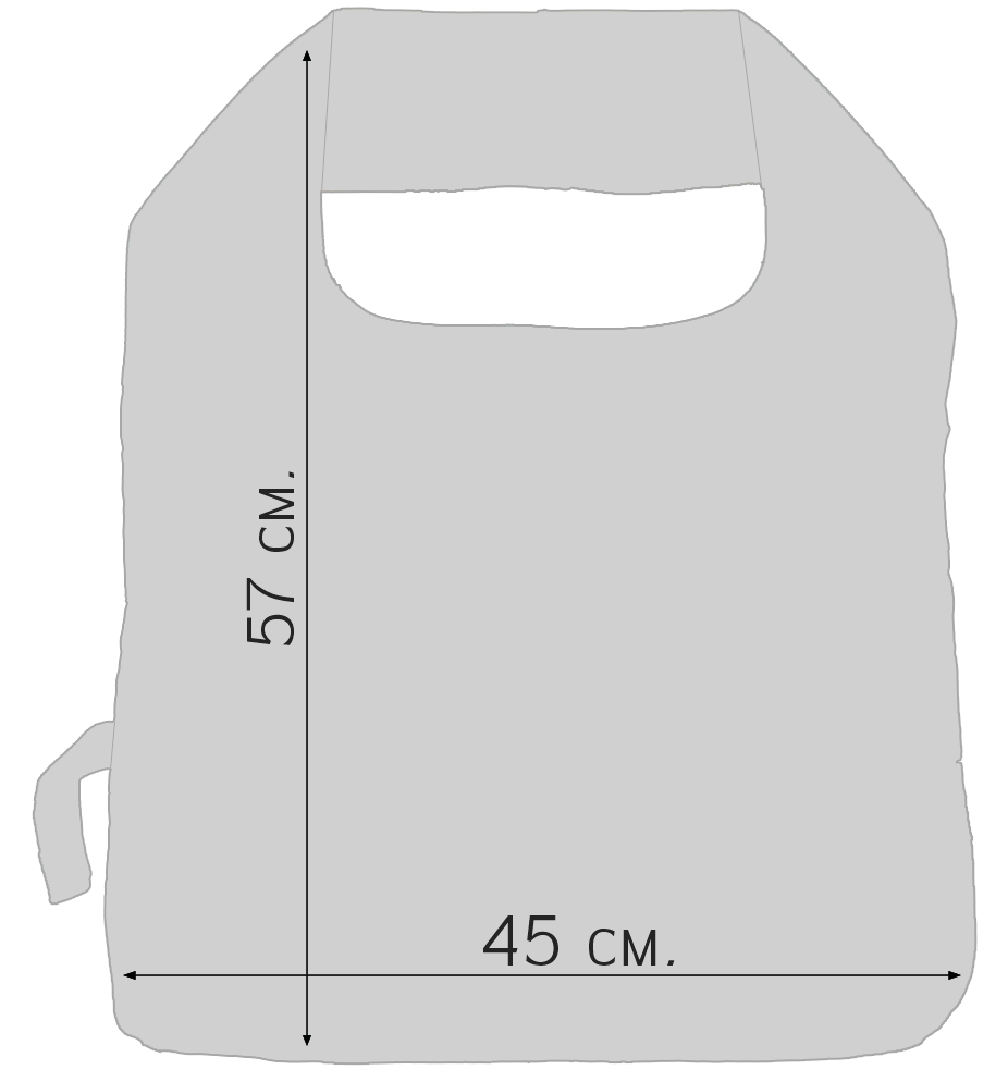 Средняя эко сумочка